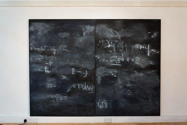 Blackboard Dyptych, 2004 - Sarah Rhys